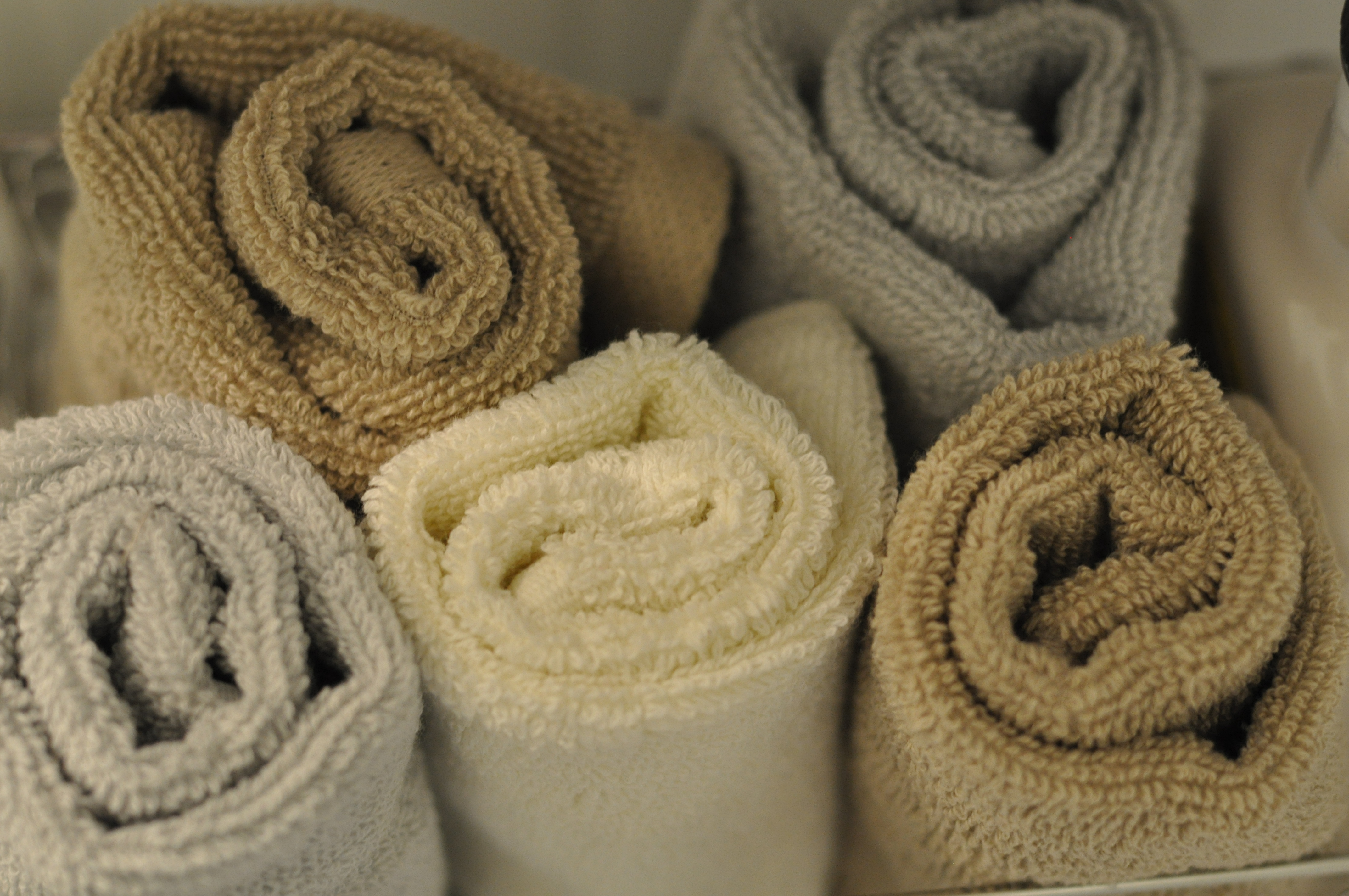 Rolled-up Towels