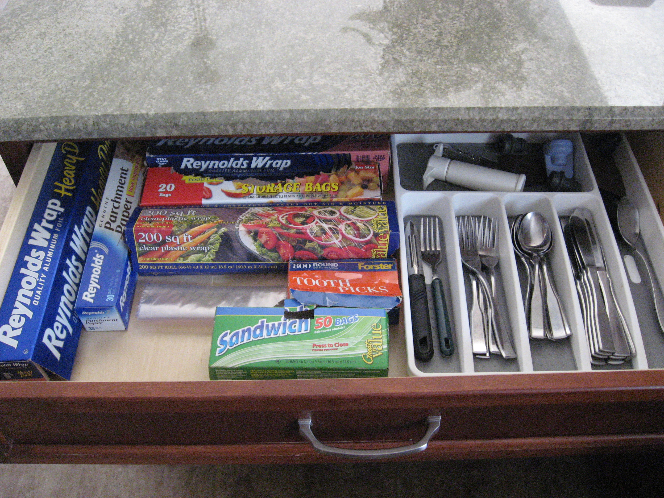 Kitchen Drawer Utensil Organization