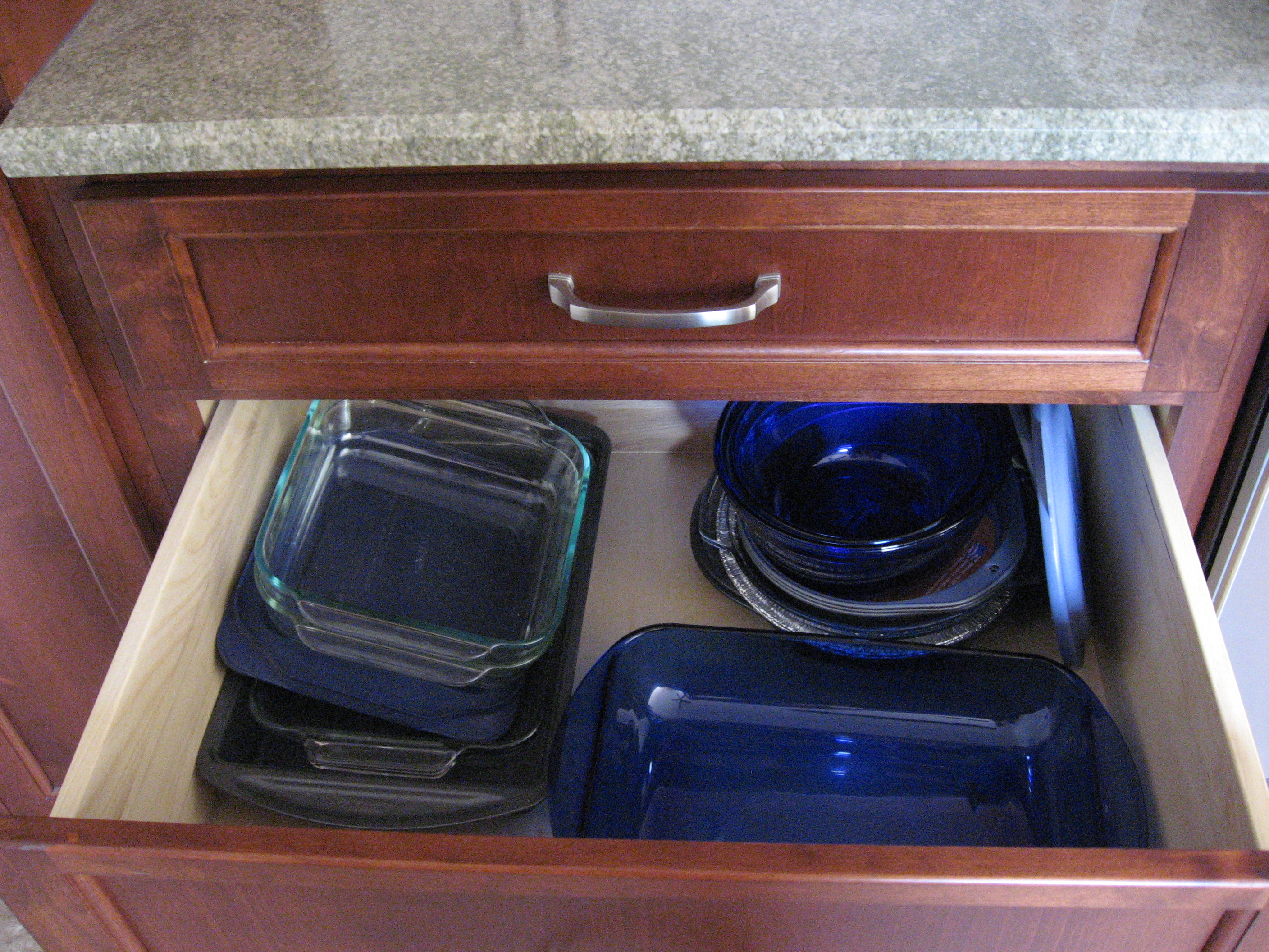 Kitchen Drawer Bakeware Organization