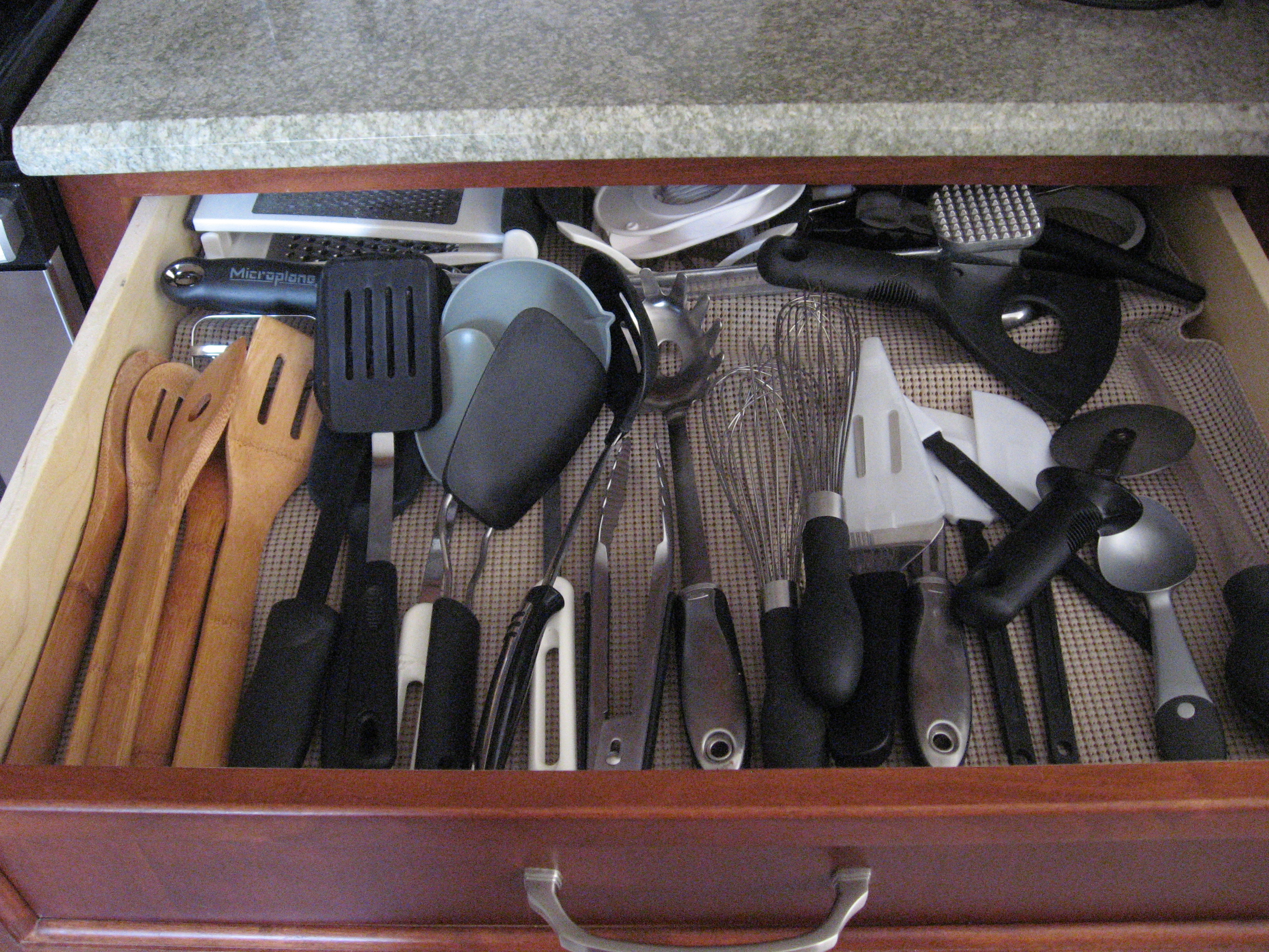 Kitchen Drawer Cooking Utensil Organization