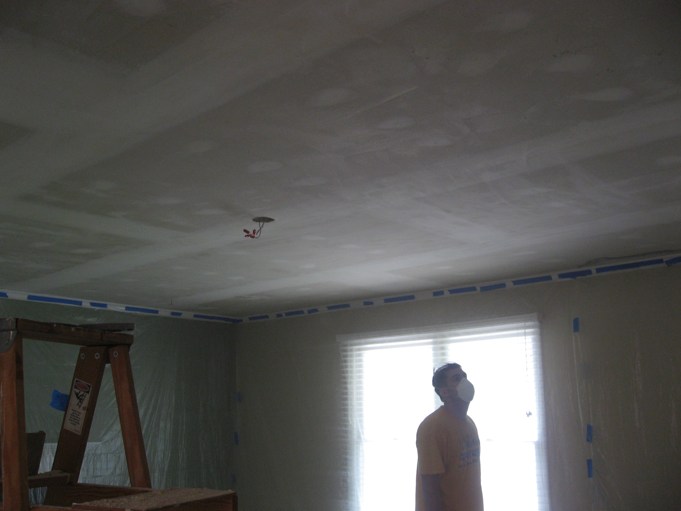 Sanding the Ceiling Smooth