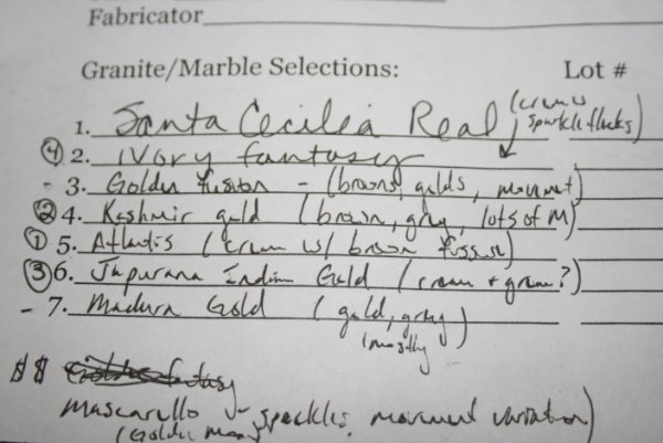 Granite List