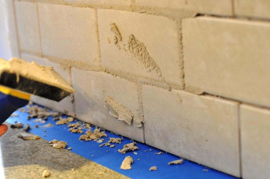 grouting tile backsplash - How To Grout Tile Backsplash