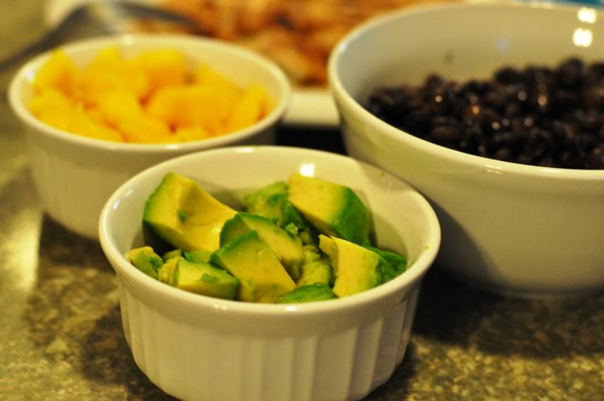 Mango, Avocado, Beans