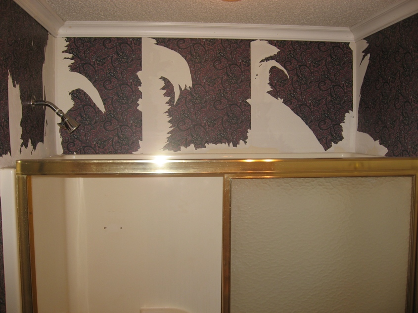 Kate's Guest Bathroom Wallpaper Removal