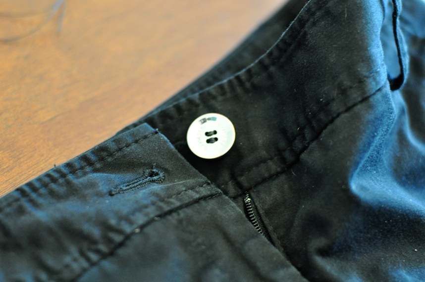 shorts with button