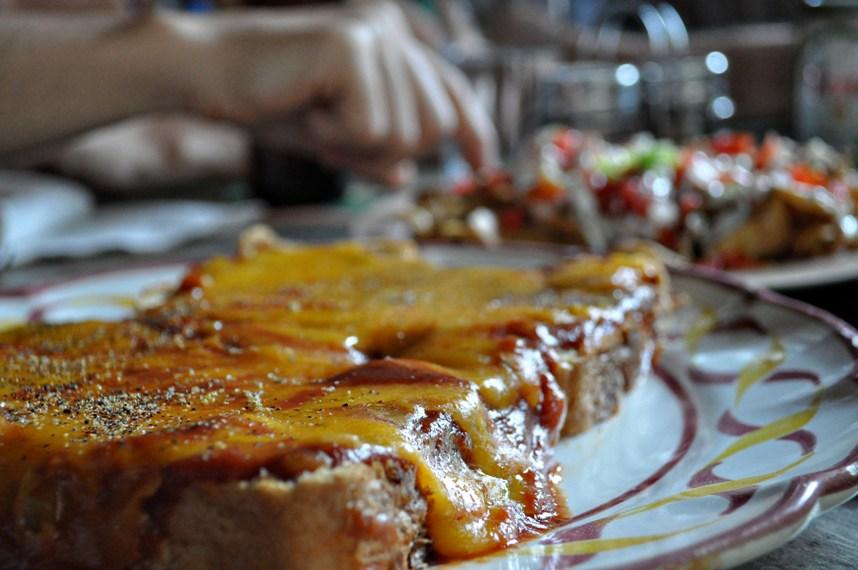 Nicaragua breakfast pizza
