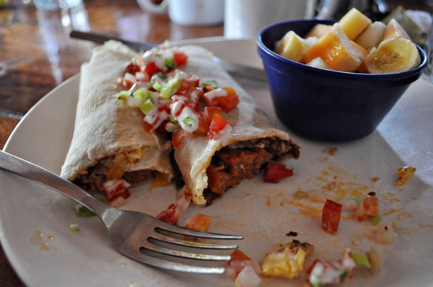 Nicaragua breakfast burrito