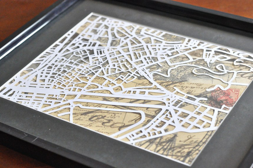 Framed Map Cutout
