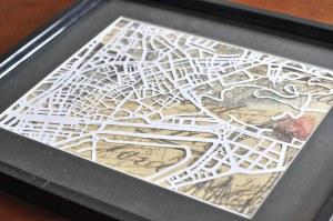 Framed Map Cutout