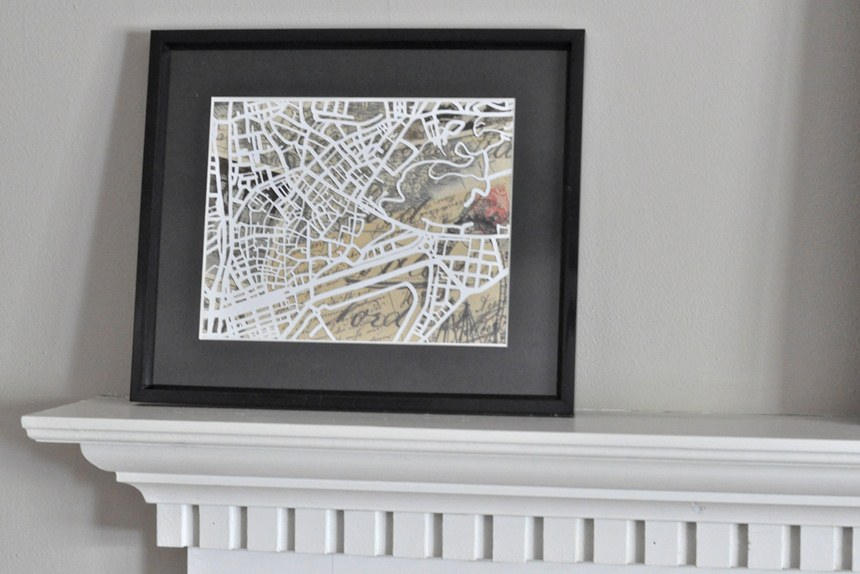 DIY Map Cutout Art